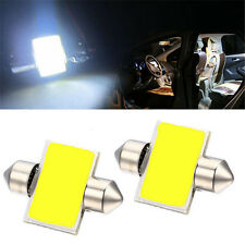 2pcs Pure White 31mm 12smd COB LED DE3175 Bulbs For Car Interior Dome Map Lights