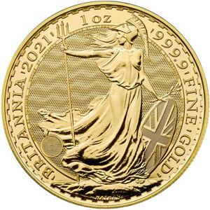 Goldmünze Britannia 2021 100 Pounds Großbritannien 1 oz in Stempelglanz