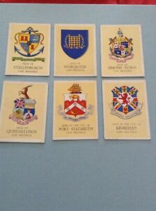 Six United Tobacco South African Coats Of Arms Cape Province Cards WB1