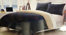 NEW! Nautica 3 Pc  Tan Navy Blue Reversible Full Queen Size Comforter & Shams