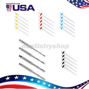 USPS AAA Dental Fiber Post Resin High-intensity Screw Thread Glass +4*Drills FDA