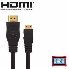 Nabi 2, Nabi XD Kids Android Tablet PC HDMI Mini to HDMI TV 5m Gold Cable Cord