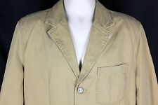 Converse One Star Jacket Mens L Large Tan 100% Cotton Military Style