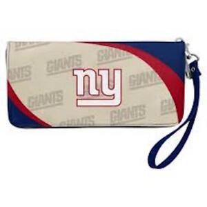 New York Giants NFL Women's Curve Zip Organizer Wallet / Purse
