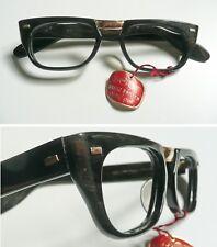 Kretzbrillen montatura per occhiali vintage in celluloide e metallo dorato 1950s