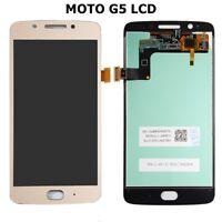 New Motorola Moto G5 XT1677 XT1670 Touch Digitizer LCD Screen Assembly Gold