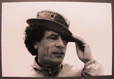 COLONEL KADHAFI CASERNE AZIZIYA 1984 LYBIE TIRAGE PRESS R. ROULEAU SYGMA
