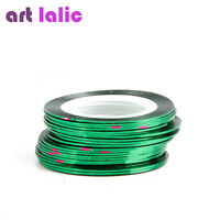 30Pcs Choose Color Pretty Rolls Striping Tape Line Nail Art Decoration Sticker