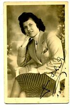 1940s Portrait-Pretty Young Woman in Jacket-RPPC-Vintage Real Photo Postcard