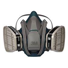 3M 6501QL Rugged Respirator  & 2 EA 6001 Organic Vapor Cartridge, SMALL