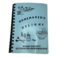 Vintage Wood County Extension Homemakers Homemakers Delight Cook Book 1982