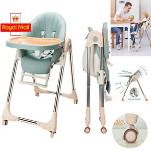 Baby High Chair Foldable Highchair Adjustable Toddler Recline Feeding Seat Table