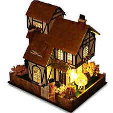 New Kits Wood Dollhouse Miniature DIY Dolls House Gift Handicraft Flower Town