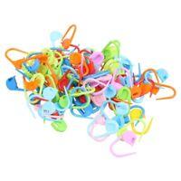 100PCS Knitting Crochet Locking Stitch Needle Clip Markers Holder WS B1R8