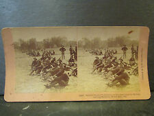 photo stereo albumen print oregon volunteers leaving malabon war albumine 1899