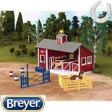 *NEW* Breyer Stablemates – Red Stable Set – Includes 2 Horses – Scale – 1:32