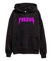 Kanye West Yeezus Pink Logo Hoodie Hip Hop Rap Sweatshirt ye merch New Black