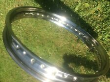 New old stock stainless steel wheel rim. WM2 x 18 x 40 hole.Bsa, Triumph Norton?
