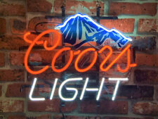 """Coors Light Mountain&Blacklight Board Neon Sign 20""""x16"""" From Usa"""
