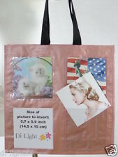PHOTO BRAG BAG photo tote - add your own (8) pictures =FREE SHIPPING!=