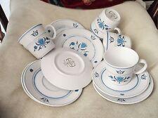 4 x look vintage con Noritake Blu Haven progressione TRIO TAZZE PIATTINI PIATTI