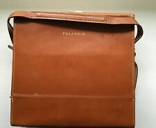 Vintage Leather Carrying Case Bag For Polaroid Land Camera Hipster - Case Only