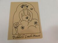 Vintage 1980's Biddie's Coach House Restaurant Menu Dublin Ohio