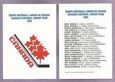 1983 Canada's National Junior Team Set