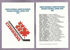 1983 Canada's National Junior Team Set