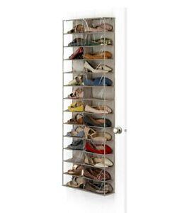 NEW Whitmor 26 Pocket Over The Door Shoe Shelves SHOE STORAGE SOLUTION