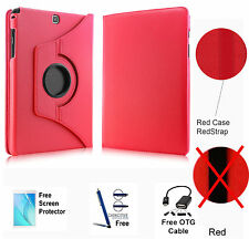 360 Rotating PU Leather Case Cover For Samsung Galaxy Tab A 8.0 T350/P350 Red