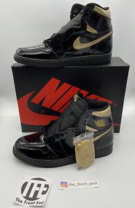 Nike Air Jordan 1 High Black Metallic Gold Sneaker 2020 US 10.5 EU 44,5 NEU OVP