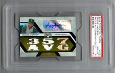 2008 TOPPS TRIPLE THREADS REGGIE JACKSON GOLD RELIC AUTO #D /9 PSA 8 ATHLETICS