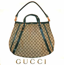 GUCCI ~ Abbey Convertible Large Tote Monogram GG Hobo / Shouder Bag ~ AUTHENTIC