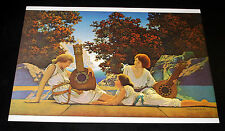 "MAXFIELD PARRISH PORTFOLIO PRINT, 1922 ""LUTE PLAYERS"" LARGE SIZE, 10X14!"