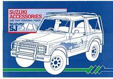Suzuki SJ Accessories 1985-86 UK Market Foldout Sales Brochure