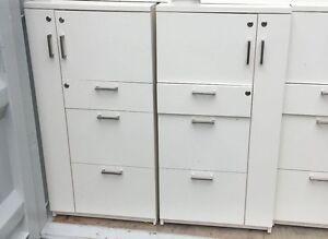 Schiavello Filing Cabinets + Personal Storage (White, Dark/Light Grey) RRP$1200+