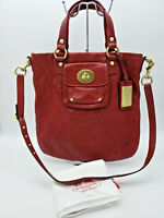 COACH - LIMITED EDITION - RARE - Kira Red Quilted Leather Shoulder Bag Crossbody
