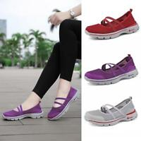 Fashion Women Flats Shoes Mesh Breathable Shoes Casual Running Shoes Sneakers