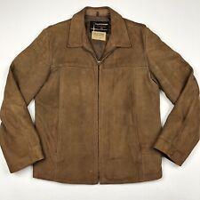 Vintage US Navy Ralph Edwards Sportswear Flight Moto Leather Jacket • Medium