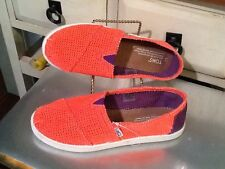 Toms Women's Bright orange Ballet Flat Shoes, One For One Size- Y 5  EUC