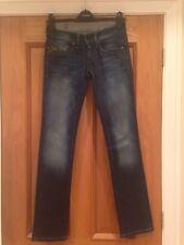 """Ladies Gstar Jeans Raw Denim 24"""" Waist 32"""" Leg Blue"""