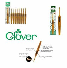 Clover Soft Touch Ergonomic Crochet Hook - Set of 9 Crochet Hooks - Yarn Wool