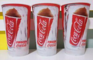 3x Australia vs England Frozen Coke 2013 Promotional Hologram Drink Cups!