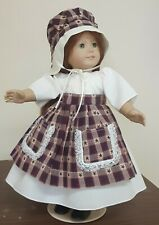 DOLL CLOTHES AND ACCESSORIES FITS AMERICAN GIRL DOLL'S.PRIMITIVE OUTFIT,