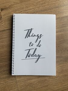 Things To Do Today Notepad Lists Grey Mrs Hinch Cleaning Tick Pad