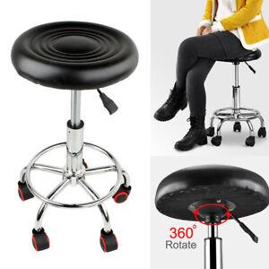 Beauty Salon Stool 5 Wheels Hairdressing Barber Chair Therapist PU Massage Stool
