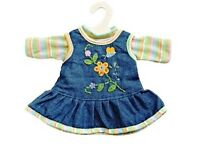 Heless Puppenkleidung peppiges Puppen Jeanskleid mit T-Shirt  f. 35-45 cm Puppen