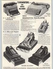 1955 PAPER AD Reminton Travel-Riter C Allen Typewriter