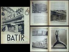 BATIR N°6 1933 VICTOR HORTA, DE KONINCK, OBOZINSKI, CHAROUX, VIENNE, EHN